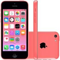 iPhone 5C Apple 8GB 4G iOS 8 Tela 4 Wi-Fi - Câmera 8MP Grava em HD GPS Proc. A6 - Pink