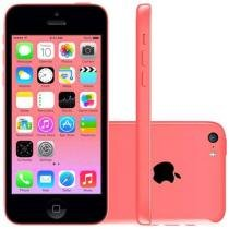 iPhone 5c Apple 8GB 4G iOS 8 Tela 4 Wi-Fi - Câmera 8MP Grava em HD GPS Proc. A6 - Rosa
