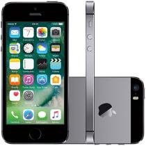 iPhone 5s Apple 16GB 3G iOS 8 Tela 4 4G Wi-Fi - Câmera 8MP Grava HD GPS Proc. M7 - Cinza Espacial