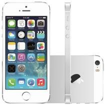 iPhone 5s Apple 16GB Prata 4G Tela 4 Retina - Câm. 8MP iOS 7 Proc. Chip A7 Touch ID