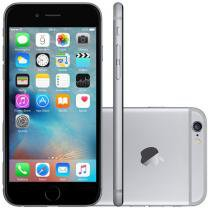 iPhone 6 Apple 128GB 4G iOS 8 Tela 4.7 Câm. 8MP - Proc. A8 Touch ID Wi-Fi GPS NFC Cinza Espacial