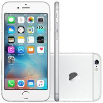 "iPhone 6 Apple 128GB 4G iOS 8 Tela 4.7"" Câm. 8MP - Proc. A8 Touch ID Wi-Fi GPS NFC Prata"