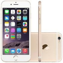 "iPhone 6 Apple 16GB 4G iOS 8 Tela 4.7"" Câm. 8MP - Proc. A8 Touch ID Wi-Fi GPS NFC Dourado"