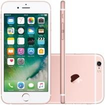 "iPhone 6S Apple 128GB Ouro Rosa 4G - Tela 4.7"" Retina Câmera 5MP iOS Proc. A9 Wi-Fi"