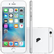 iPhone 6S Apple 64GB 4G iOS 9 Tela 4.7 3D Touch - Câm. 12MP Proc. Chip A9 Touch ID - Prata