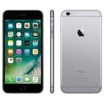 "iPhone 6S Plus Apple 128GB Cinza Espacial 4G - Tela 5.5"" Retina Câm. 12MP iOS 9 Proc. Chip A9"