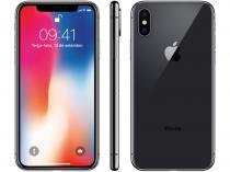 iPhone X Apple 256GB Cinza Espacial 4G Tela 5,8 - Retina Câm 12MP + Selfie 7MP iOS 11 Proc. Chip A11