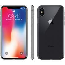 iPhone X Apple 64GB Cinza Espacial 4G Tela 5,8 - Retina Câm 12MP + Selfie 7MP iOS 11 Proc. Chip A11