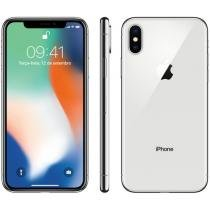 iPhone X Apple 64GB Prata 4G Tela 5,8 Retina - Câmera 12MP + Selfie 7MP iOS 11 Proc. Chip A11