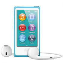 "iPod Nano 16GB Azul Tela 2,5"" Apple MD477BZ/A - Multi Touch, Rádio FM e Bluetooth"