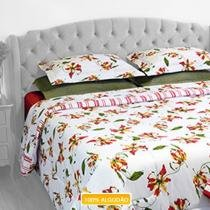 Jogo de Cama Casal Innovi Flamboyant II 4 Peas