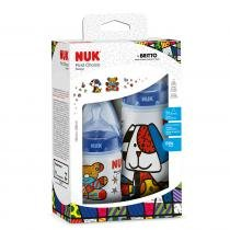 Kit 2 Mamadeiras 150ml e 300ml Design By Britto Azul - Nuk -