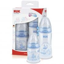 Kit 2 Mamadeiras 150ml e 300ml First Choice Rose & Blue Azul - Nuk -