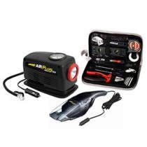Kit Acess��rios c/ Motocompressor e Aspirador 12V - Kit de Ferramentas 13 Pe��as - Schulz Air Plus
