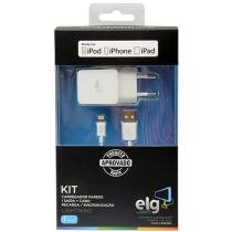 Kit de Carregador Veicular Lightning / USB 1 Metro - ELG KT810WC