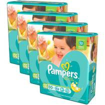 Kit Fraldas Pampers Total Confort XXG - 30 Unidades 4 Pacotes