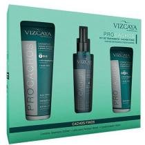 Kit Procachos Vizcaya - Shampoo 200ml + Condicionador 150ml + Spray 140ml