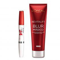 Kit Revitalift Blur Mágico L'Oreal Paris + Super Stay 24H Maybelline - Kit - Aperfeiçoador da Pele + Batom