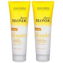 Kit Sheer Blonde Go Blonder Lightening - Shampoo 250ml + Condicionador - John Frieda