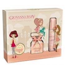 Kit Sweet Friends Peach Giovanna Baby - Kit - Perfume 20ml + Desodorante 40ml + Lip Balm 6g