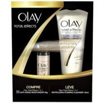 Kit Total Effects 7 em 1 Creme Facial 48 ml - Espuma de Limpeza Revitalizante 184 ml - Olay