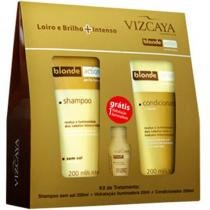 Kit Vizcaya Blonde Action - Shampoo 200ml + Condicionador 150ml + Ampola 20ml