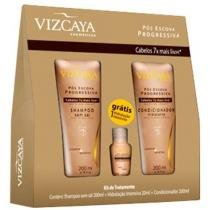 kit Vizcaya Pós Escova - Shampoo 200ml + Condicionador 150ml + Ampola 20ml