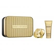 Lady Million Eau de Parfum Paco Rabanne - Kit - Kit de Perfume Feminino 80ml + Loção Corporal 100ml