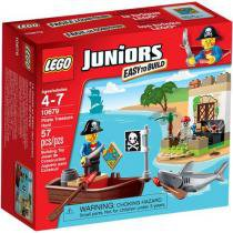 LEGO Juniors Piratas em Ca��a ao Tesouro - 57 Pe��as - 10679
