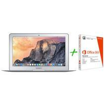 Macbook Air LED 11,6 Apple MJVM2BZ/A Prata - OS X Yosemite + Pacote Office 365 Personal