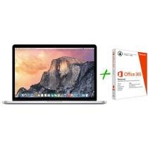 Macbook Pro Retina 15,4 Apple MJLT2BZ/A Prata - OS X Yosemite + Pacote Office 365 Personal