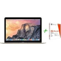 Macbook Retina LED 12 Apple MK4M2BZ/A Dourado - OS X Yosemite + Pacote Office 365 Personal