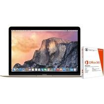 MacBook Retina LED 12 Apple MK4N2BZ/A Dourado - Intel Core i3 8GB 512GB + Pacote Office 365