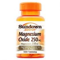 Magnesium Oxide 250 mg 100 Tabletes - Sundown