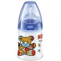 Mamadeira First Choice Design by Britto 150ml 0M+ Azul - Nuk -