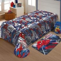Manta Infantil Jolitex Marvel Soft - Spider Man 1 Peça