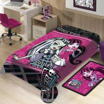 Manta Infantil Mattel Monster High Softlight - Jolitex -