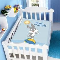 Manta Microfibra Looney Tunes Baby Rough and Tumble Azul - Jolitex -