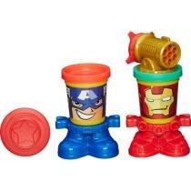 Marvel Play Doh Spider Capit��o Am��rica e Iron Man - Hasbro