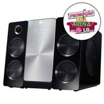 Micro System LG 160 Watts RMS - Grava em MP3 Reproduz e Recarrega iPod/iPhone Dock