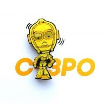 Mini Luminária Star Wars C-3PO - 3D Light FX