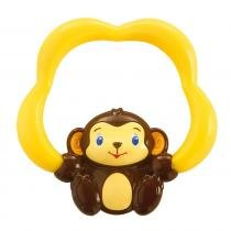 Mordedor c/ Água 3M+ Soothing Safari Teether Macaco Marrom - Bright Starts -