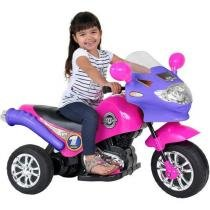 Moto Elétrica 6V Speed Chopper Rosa