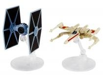 Nave Tie Fighter vs. X-Wing Fighter - Hot Weels Star Wars Mattel