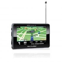 Navegador GPS Multilaser Tracker III Tela 4.3 Preto TV Digital Radio FM - GP034 -