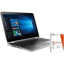 Notebook 2 em 1 HP 13-s101br x360 Convertible - Pavilion Intel Core i3 4GB + Pacote Office 365