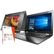 """Notebook 2 em 1 Lenovo Yoga 500 Intel Core i3 - 4GB 500GB LED 14"""" Touch Screen + Pacote Office 365"""