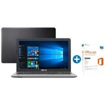 "Notebook Asus Vivobook Max X541UA Intel Core i3 - 4GB LED 15,6"" + Microsoft Office 365 Personal 1TB"