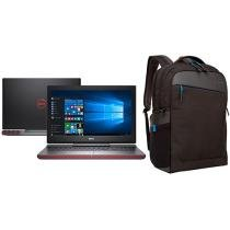 "Notebook Gamer Dell Inspiron i15-7567-A10P Intel - Core i5 8GB 1TB LED 15,6"" GeForce + Mochila"