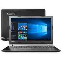 "Notebook Lenovo Ideapad 100 Intel Dual Core - 4GB 500GB LED 15,6"" Windows 10"